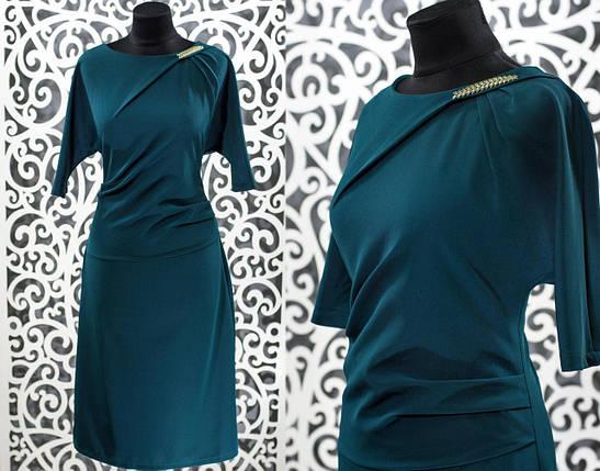 Изысканное женское платье ткань *Костюмная* 48, 50, 52 размер батал, фото 2