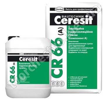 CR 66 Эластичная гидроизоляционная смесь Церезит (Ceresit CR-66), двухкомпонентная 17,5 кг/5л.
