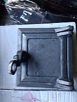 Чугунная дверца для чистки сажи, прочистная, сажетруска
