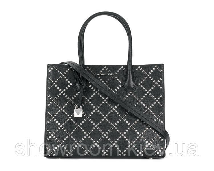 Женская сумка в стиле Michael Kors Mercer Grommeted small black
