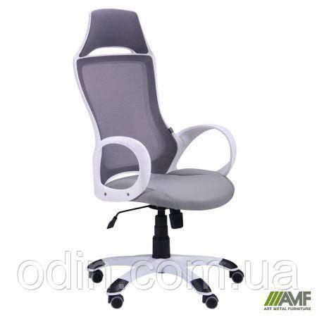 Кресло Viper белый, сиденье Неаполь N-23/спинка Сетка серая 265843