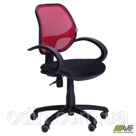 Кресло Байт/АМФ-5 сиденье Сетка черная/спинка Сетка красная 116969
