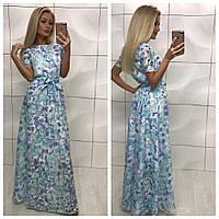 Длинное летнее платье Лен-органза размеры 42-44 и 44-46 83890983f3ded