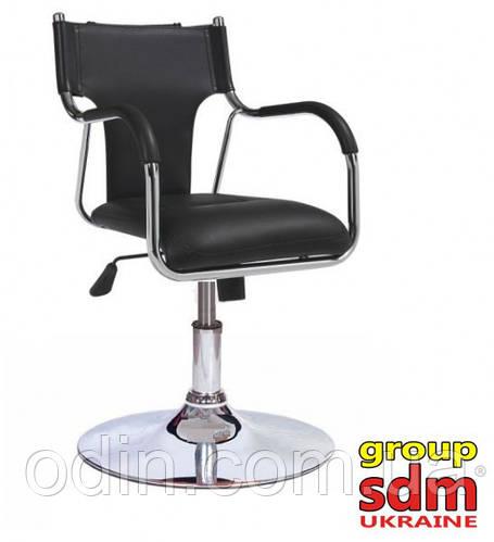 Кресло Берлин45, механизм качания, хромированное, цвет черный berlin45