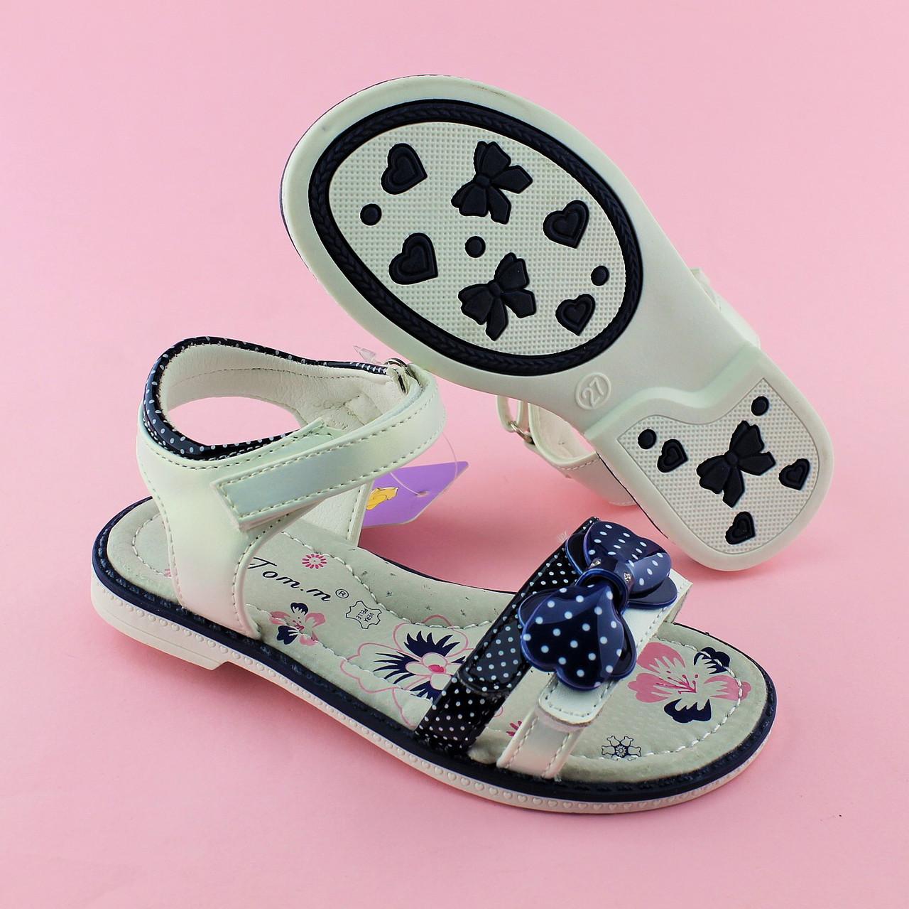 Детские сандалии для девочки Синий бант TOMM размеры 28