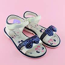 Детские сандалии для девочки Синий бант TOMM размеры 28, фото 3