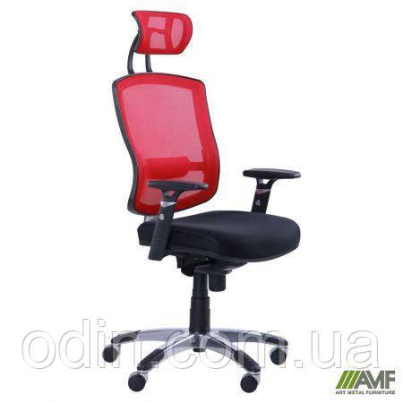 Кресло Коннект HR сиденье Сетка черная/спинка Сетка красная 117080