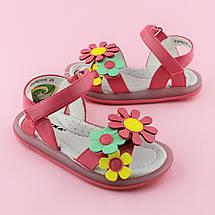 Малиновые сандалии девочке на липучках тм Сказка размер 25,26,27,29,30, фото 3