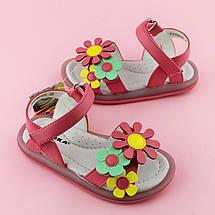 Малиновые сандалии девочке на липучках тм Сказка размер 25,26,27,29,30, фото 2