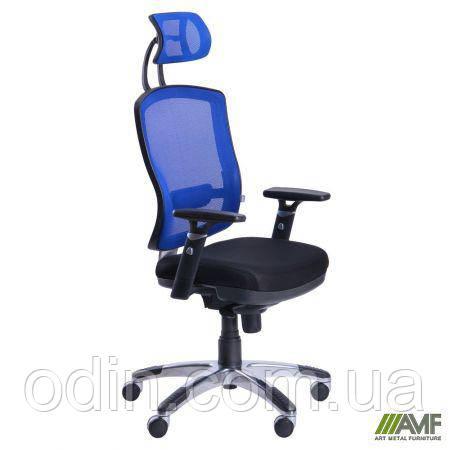 Кресло Коннект HR сиденье Сетка черная/спинка Сетка синяя 117078
