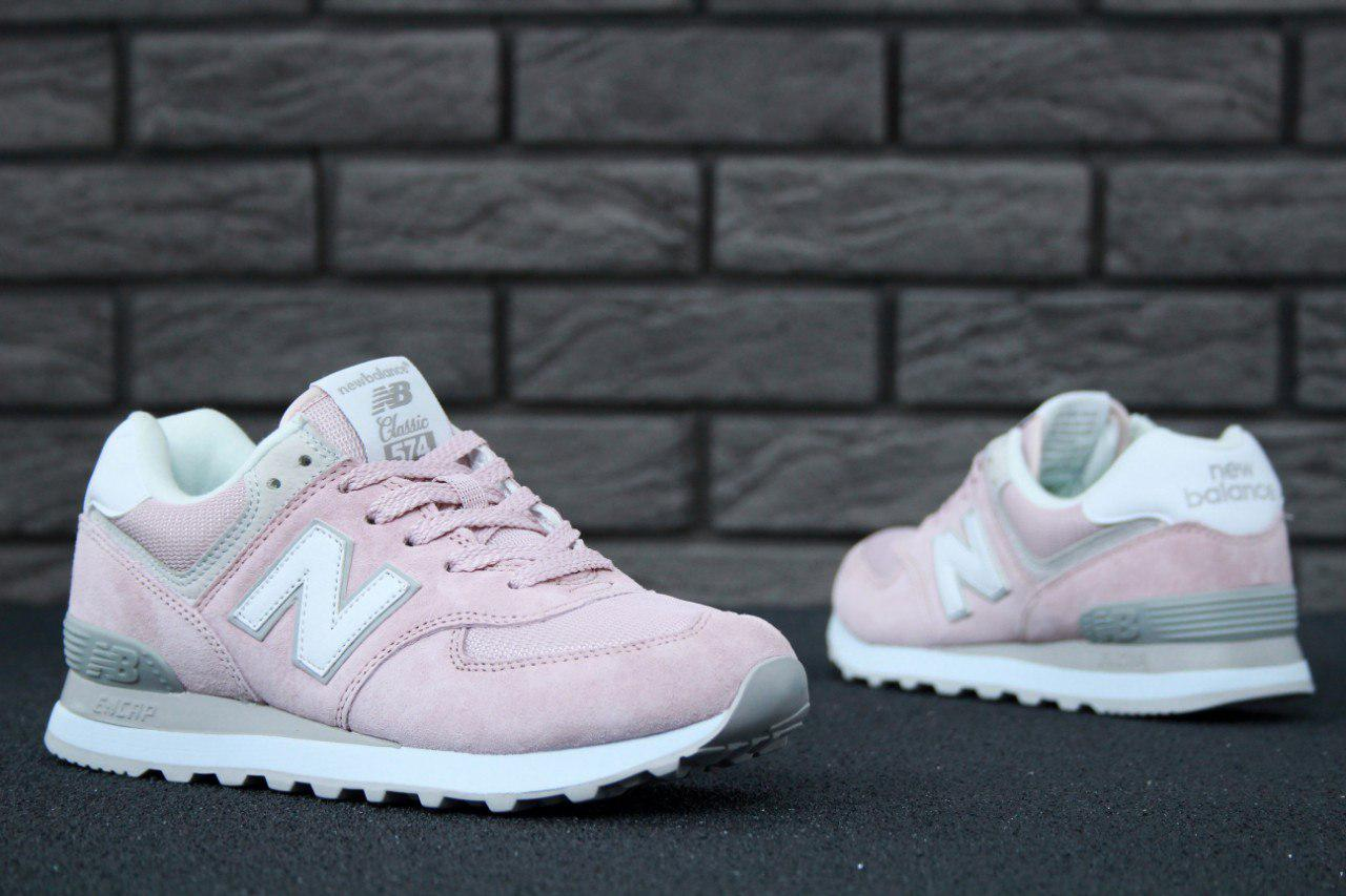 37717d8001f7 Женские кроссовки New Balance 574 Pink White  продажа, цена в Киеве ...