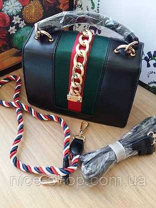 Сумочка Gucci черная mini, фото 2