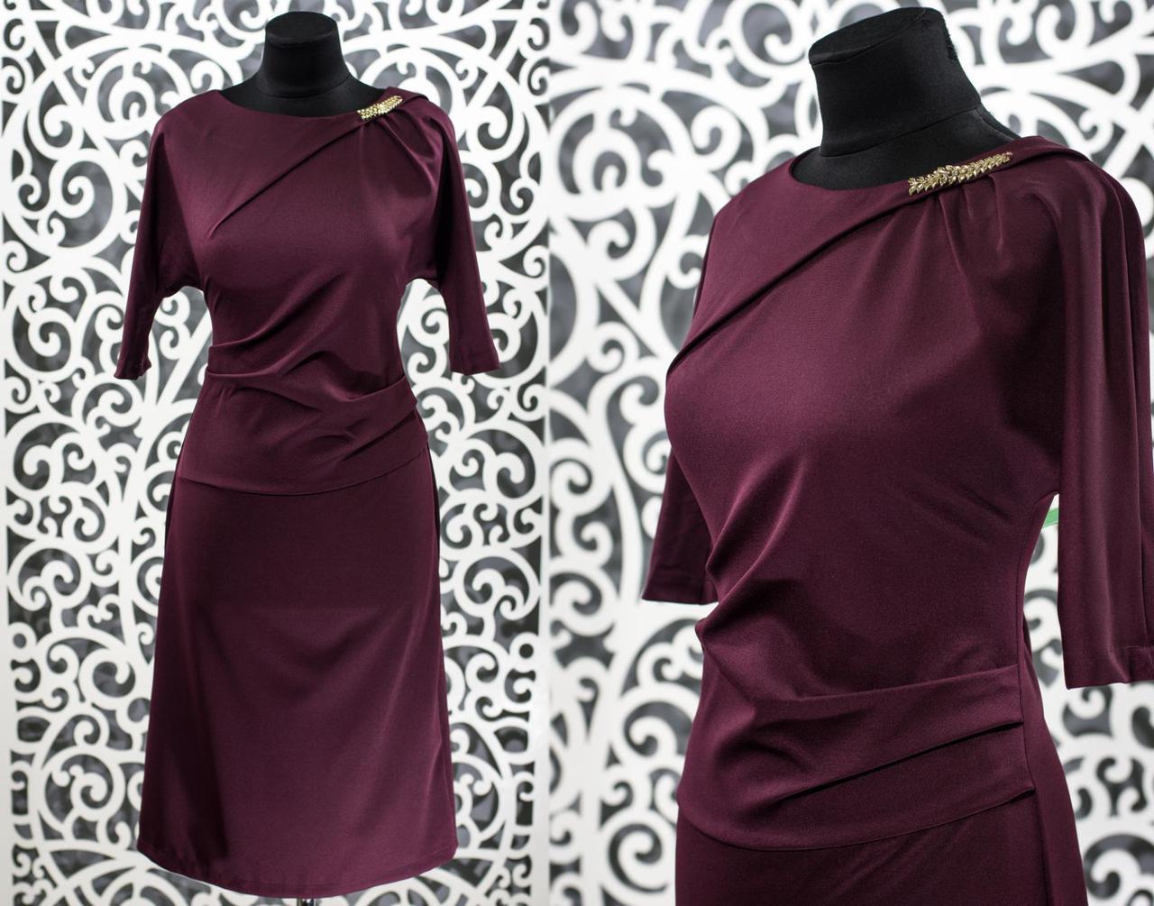 """Сногшибательное женское платье из """"Костюмной"""" ткани 48, 50, 52, 54 размер батал"""