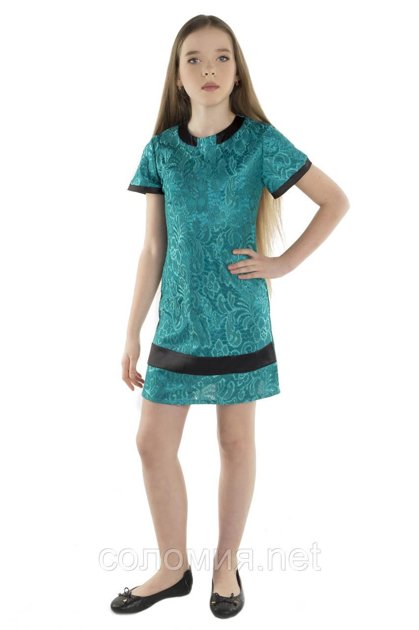 Нарядное платье из кружева для девочки  134-152р