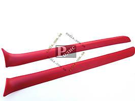 Накладки передних стоек ВАЗ 2101, 2102, 2103, 2106 (красные) Lada Classic «AutoElement»