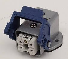 Корпус EBM05PE41 с розеткой пластиковым фиксатором, стационарный  5 вывод. Эмас