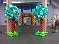Оформление шарами магазина