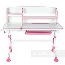Комплект подростковая парта для школы Amare II Pink + ортопедическое кресло Bravo Pink FunDesk , фото 2
