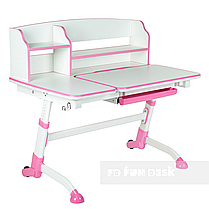 Комплект подростковая парта для школы Amare II Pink + ортопедическое кресло Bravo Pink FunDesk , фото 3