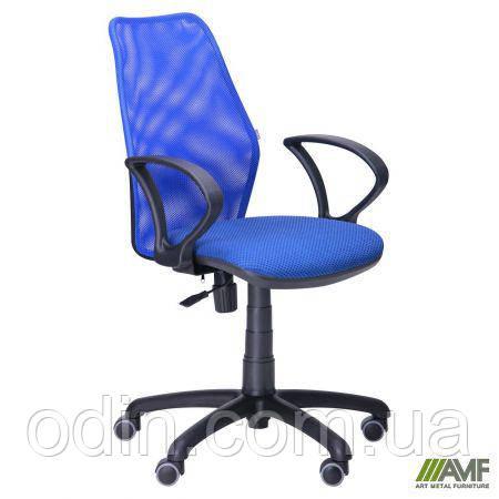 Кресло Oxi/АМФ-4 сиденье Квадро-20/спинка Сетка синяя 261126