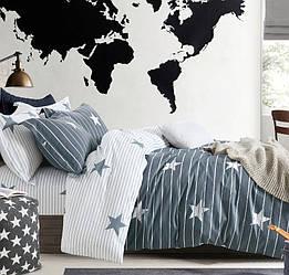 Евро комплект постельного белья 200*220 из сатина  Созвездие