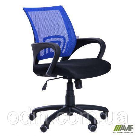 Кресло Веб сиденье Сетка черная/спинка Сетка синяя 117023