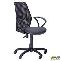Кресло Oxi/АМФ-4 сиденье Квадро-02/спинка Сетка черная 261005
