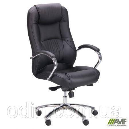Кресло Мустанг MB Хром Неаполь N-20, вставка Неаполь N-20 перфорированный 263610