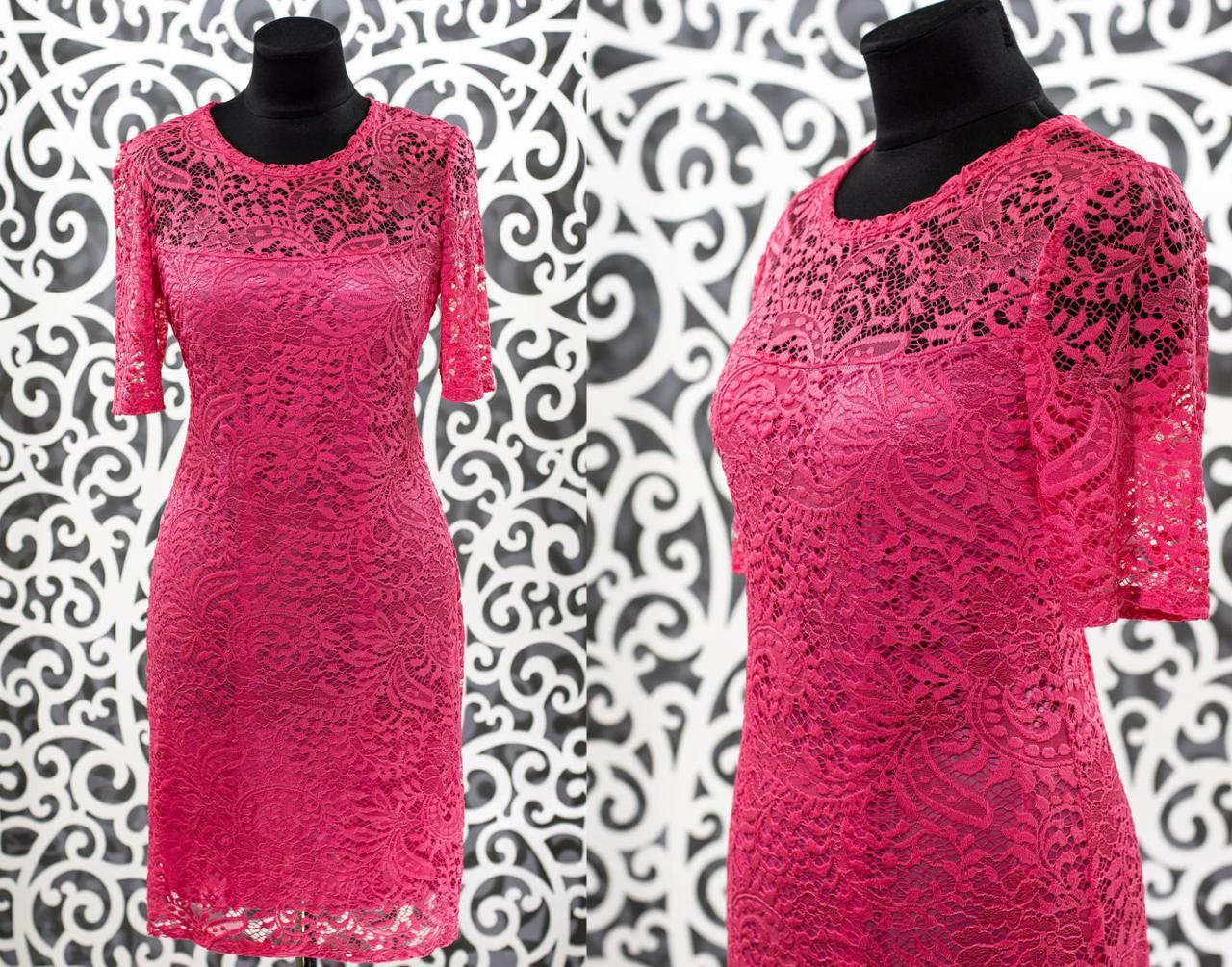 """Нежное женское платье """"гипюр на подкладке из Хлопок+стрейч"""" т 50, 54 размер батал"""