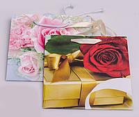 Пакет подарочный, 16х16х8 см, Украина, в ассортименте, фото 1