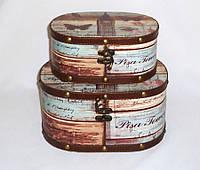 Шкатулка овальная набор из 2-х - Биг Бен