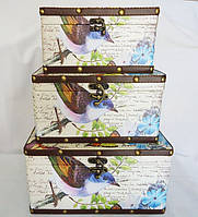 Шкатулка набор из 3-х - Птица