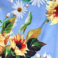 Ткань штапель принтованный (P6157 дизайн 6), фото 1