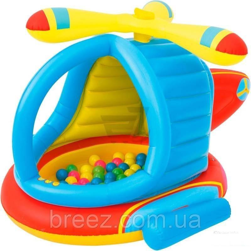 Детский надувной центр Bestway Вертолет с шариками 140 х 127 х 89 см с шариками 25 шт