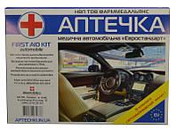 """Аптечка автомобільная тип """"Євро"""" комплектація згідно DIN 13164, м'який футляр (02-005-М)"""
