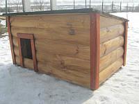 Будка для средней собаки | С закрытой верандой | Утепленная, фото 1