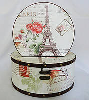 Шкатулка круглая набор из 2-х - Париж