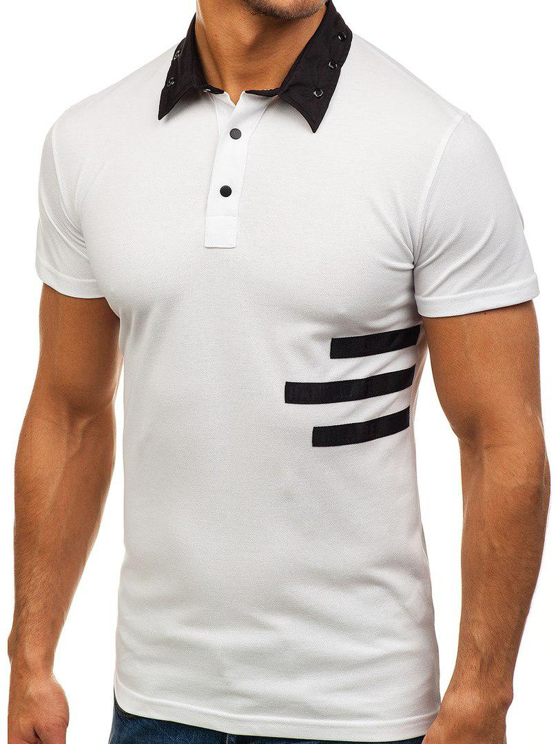 Мужская футболка поло Mechanich белая