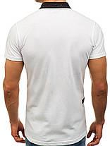 Мужская футболка поло Mechanich белая, фото 2