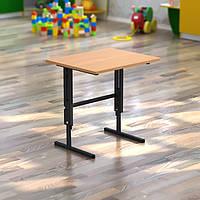 Стол детский одноместный (550*450*h) регулируемый