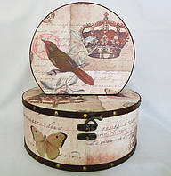 Шкатулка круглая набор из 2-х - Корона