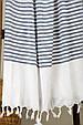 Рушник Barine Pestemal White Imbat 90*170 Indigo синє, фото 2