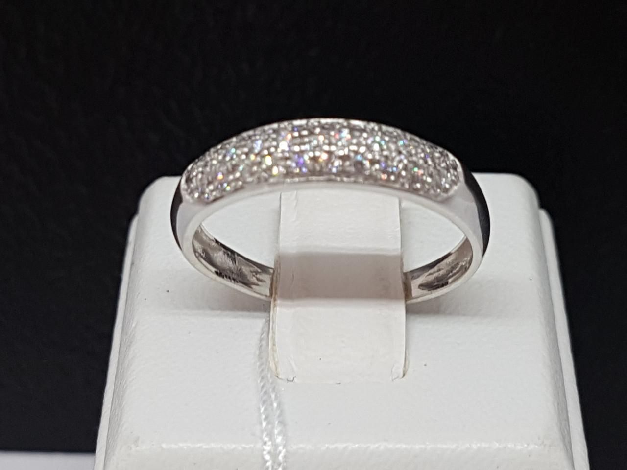 Серебряное кольцо Калинка с фианитами. Артикул 1246Р-CZ 16