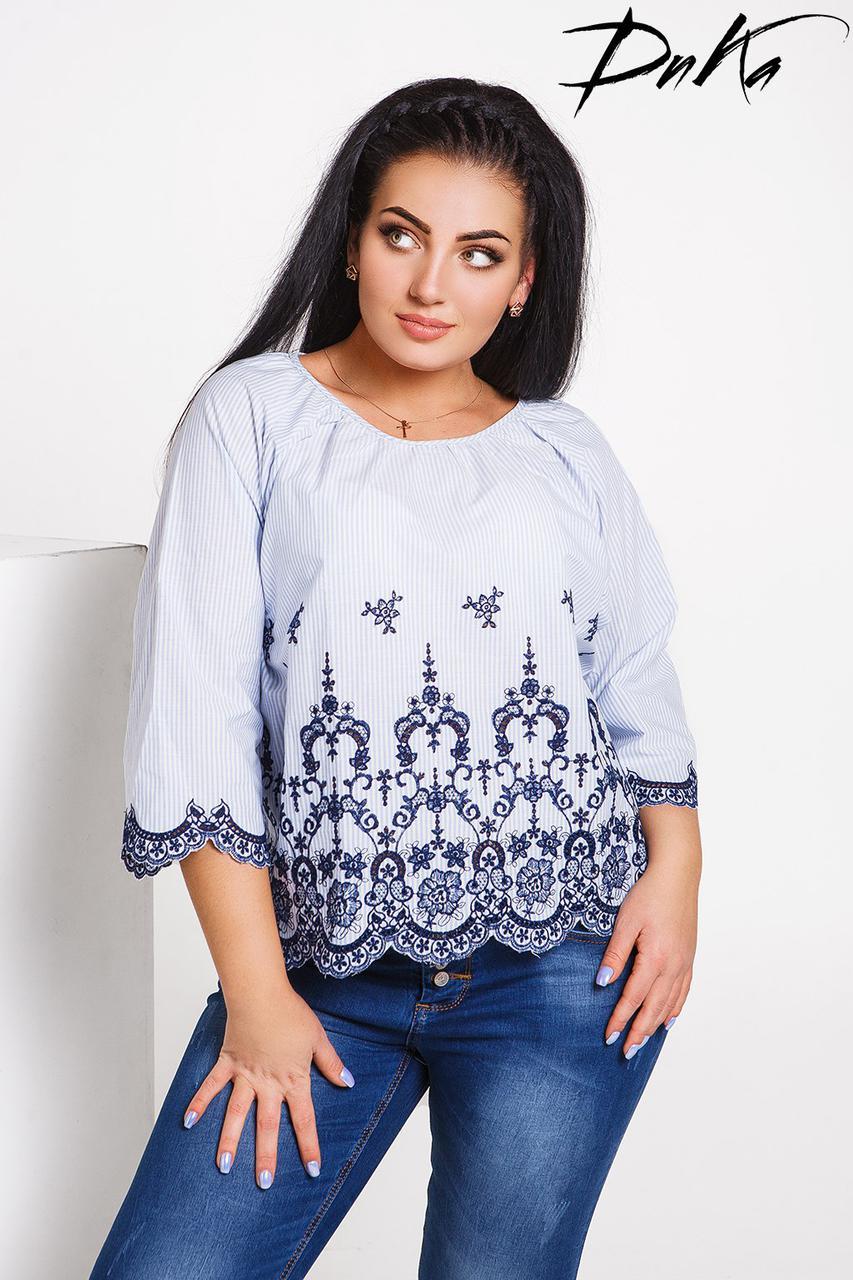 Блуза БАТАЛ вышивка 04/с486