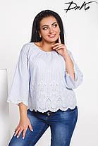 Блуза БАТАЛ вышивка 04/с486, фото 3