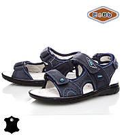 Босоножки, сандалии кожаные для мальчика р.32-37 ТM EeBb A9060 blue