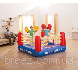 Детский надувной батут Intex Боксерский ринг 226 х 226 х 110 см, фото 2