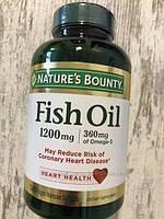 Рыбий жир в капсулах Nature's Bounty Fish Oil Omega 3,  120 капсул