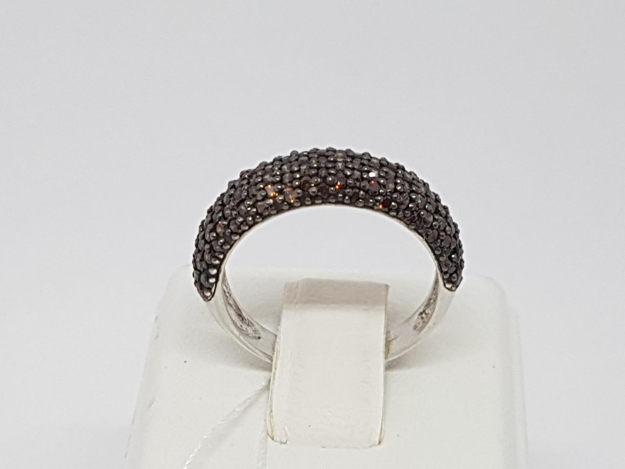 Серебряное кольцо Мерцание с фианитами. Артикул 1500/9Р-CZ