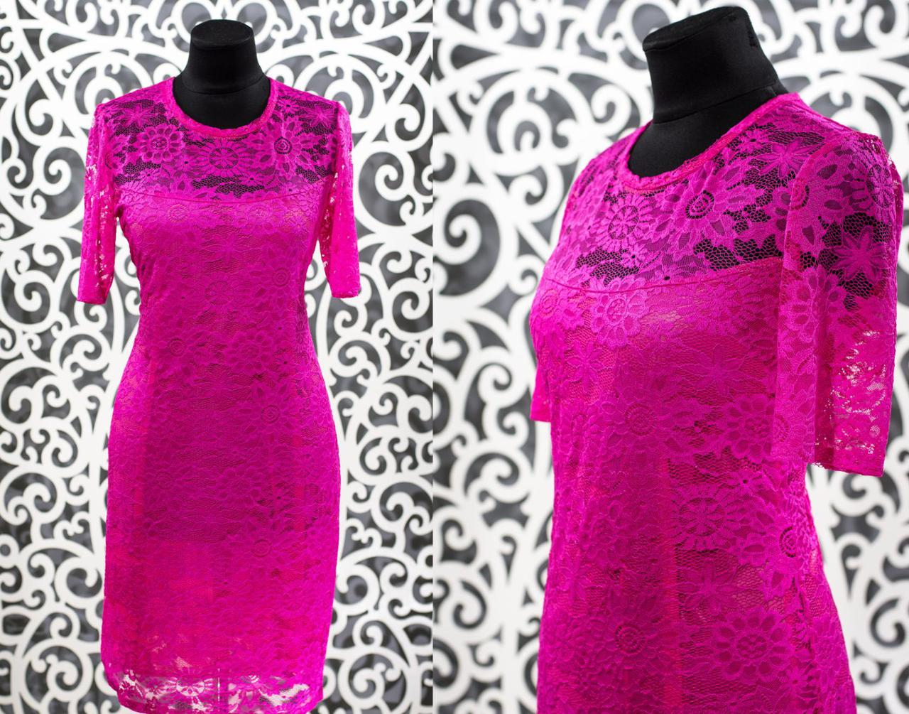 """Нежное женское платье """"гипюр на подкладке из Хлопок+стрейч"""" с 48, 50, 52, 54, 56 размер батал"""